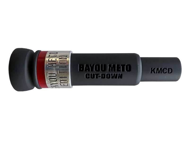BAYOU METO CUT-DOWN Duck Call KM CUSTOM CUT RED-LABEL Special Editions Duck Call