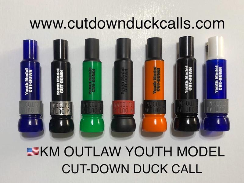 KM-YM Youth Model threaded Keyhole Duck Call - All