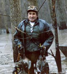 Lester Capps a true master of the cut-down duck call. Lester Capps a true master of the Cut-down duck call. He used a backwards keyhole Olt. And opened my eyes to the power of the cut down duck call. He was a well known duck hunter on the public lands. And called the most ducks of places like Bayou Meto, Arkansas. Lester Capps holding the kills of the day of flooded green timber hunting.