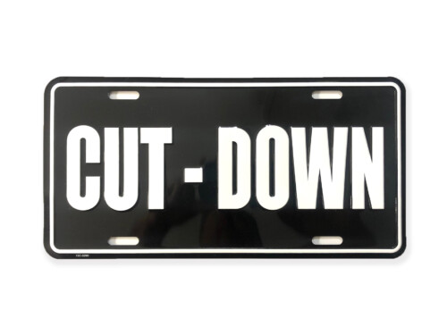 Cut-Down Duck Call Truck License Plate – Black