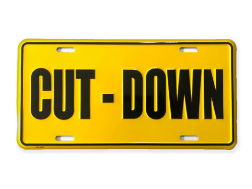 Cut-Down Duck Call Truck License Plate – Yellow