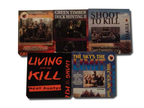 Kirk McCullough's 5 DVD Combo Pack including THE SKY'S the LIMIT, SHOOT to KILL, LIVING for the KILL, GREEN TIMBER DUCK HUNTING 2, and our best seller GREEN TIMBER DUCK HUNTING 1