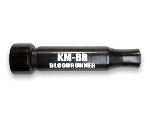 KM-BR BLOODRUNNER Cut-Down Duck Call Black with White Lettering