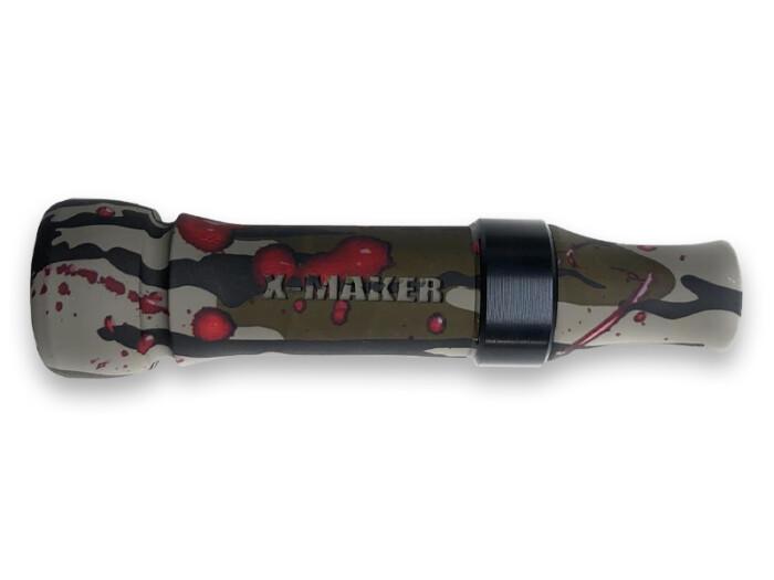 X-MAKER Cut-Down Duck Call Bloodsplatter with Black Band