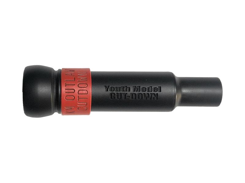 KM-YM Youth Model threaded Keyhole Duck Call - Flat Black