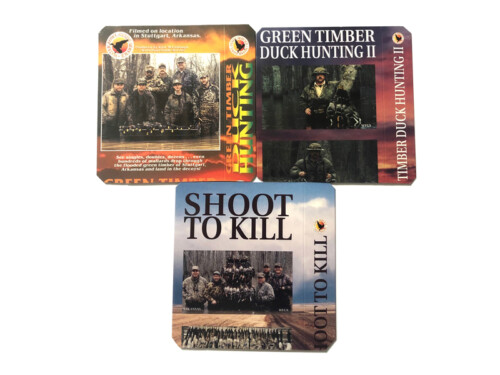 3 DVD Combo Pack including SHOOT to KILL, GREEN TIMBER DUCK HUNTING 2, and our best seller GREEN TIMBER DUCK HUNTING 1